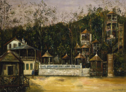 Maurice Utrillo, 'Open air cafes at Plessy-Robinson', 1917