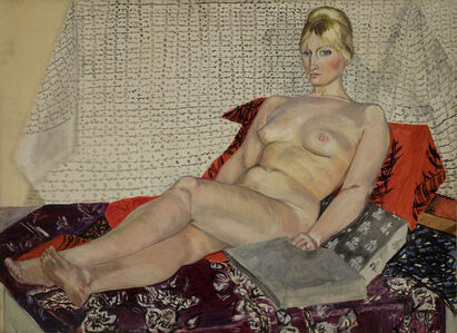 Sylvia Sleigh, 'Reclining Nude at Hammersmith', 1959