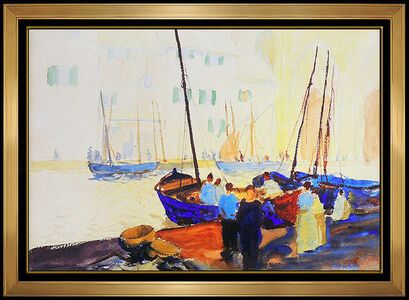 John Whorf, 'Gathering at the Dock', 20th Century