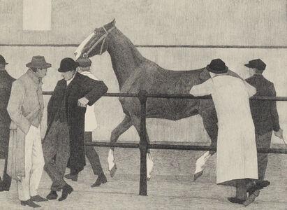 Robert Bevan, 'Horse Dealers (Ward's Repository No 1)', 1919