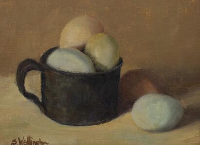 Susan Wellington, 'Eggaxactly!', 2019