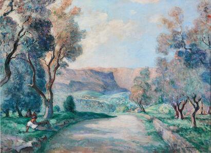 Henri Lebasque, 'Les Gorges du Loup, route de Grasse', 1926
