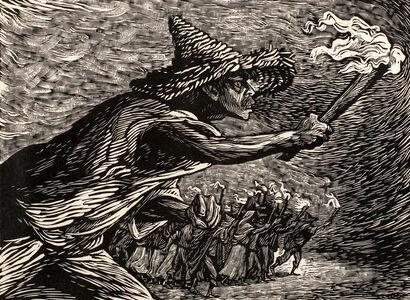 Leopoldo Mendez, 'Las antorchas / The Torches', 1947