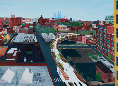 Sarah McEneaney, 'From the Lasher-Callowhill Rail Park', 2019