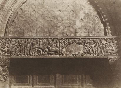 Auguste Salzmann, 'Jerusalem - Saint Sepulcre - Bas relief  (Porte d'Entrée)', 1854/1854