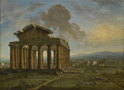 Antonio Joli, 'Temple of Poseidon at Paestum', Late 1750s