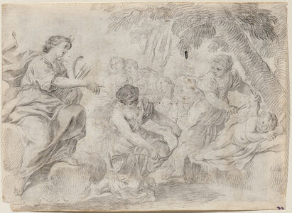 Italian School, 18th Century, 'Diana Clipping Cupid's Wings'
