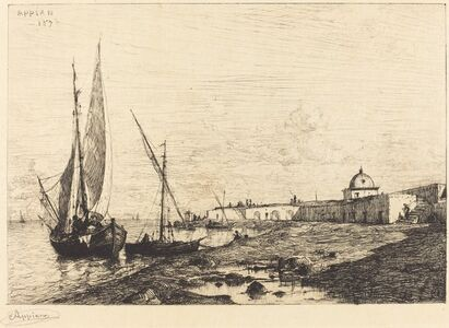 Adolphe Appian, 'Port of San Remo', 1878