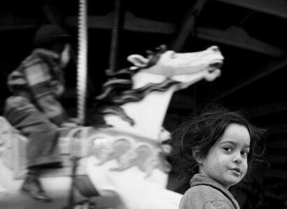 Harold Feinstein, 'Gypsy Girl at the Carousel, Coney Island', 1949