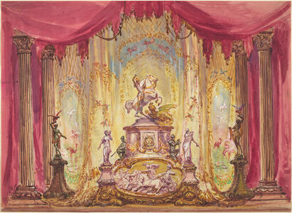 Robert Caney, 'Stage Set With Statue Of St. George Slaying The Dragon'
