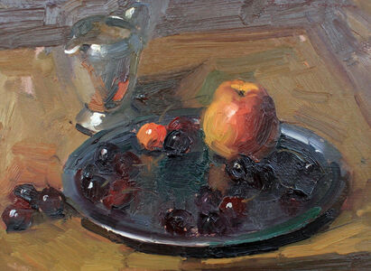Ovanes Berberian, 'Still Life With Apple', Unknown