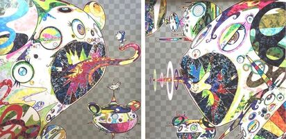Takashi Murakami, 'Homage to Francis Bacon (Study of George Dyer and Study for Head of Isabel Rawsthorne) (2 piece set)', 2017