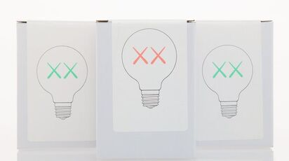 Light Bulb Set (Red and Green), for The Standard (three works)
