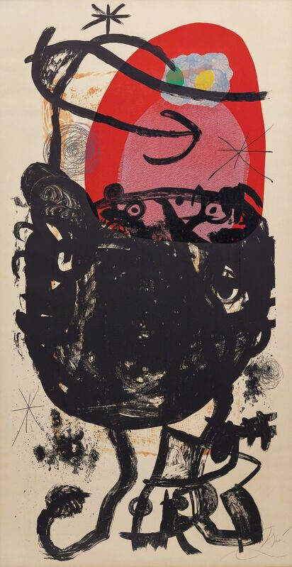 Joan Miró, 'La Guerrière de cent ans (The Hundred Years War)', 1976, Print, Lithograph in colours, on wove paper, the full sheet., Phillips