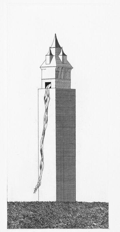 David Hockney, 'The Tower had One Window', 1969, Print, Etching and aquatint, Goldmark Gallery