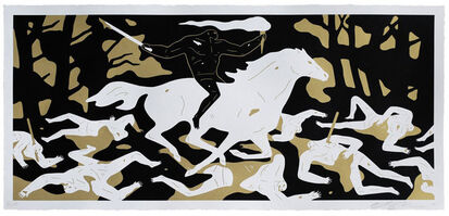 Cleon Peterson, 'Victory (Gold)', 2016