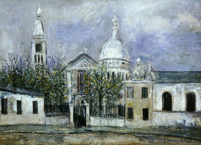 Maurice Utrillo, 'Eglise Saint-Pierre, or St Peters Church Montmartre Paris', 1914