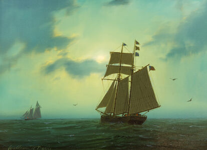 William R. Davis, 'Topsail Schooner Nocturne', 2016