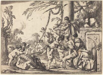 Laurent de La Hyre, 'Holy Family with Putti', 1640
