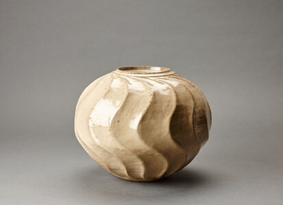 Miraku Kamei XV, 'Jar, wave pattern', 2015-2016