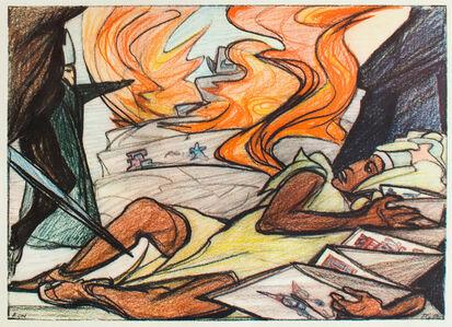 Pablo O'Higgins, 'La Destrucción del México Antiguo', 1960