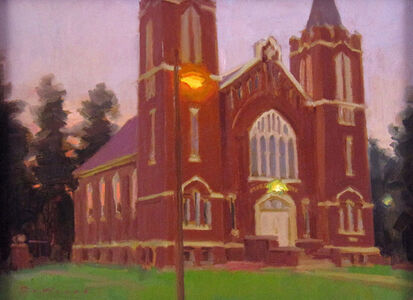 Ken DeWaard, 'Fading Light, Church', ca. 2015