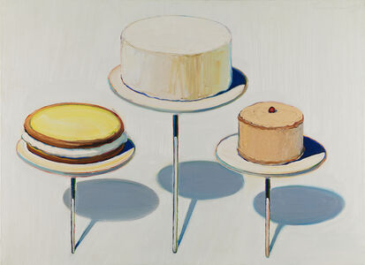 Wayne Thiebaud, 'Display Cakes', 1963
