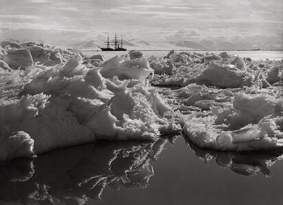 Herbert George Ponting, 'Beautiful Broken Ice, Reflections and the Terra Nova, January 7th', 1911