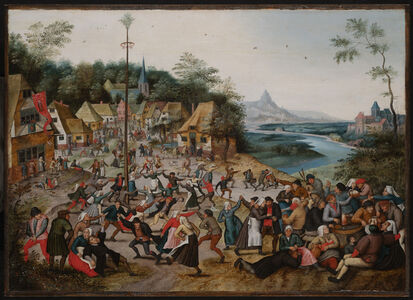 Pieter Bruegel the Younger, 'Saint George's Kermis With The Dance Around The Maypole ', 1627