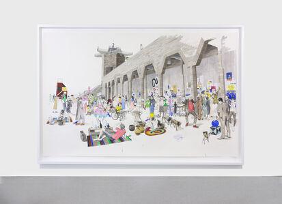 Charles Avery, 'Untitled (City Wall market scene)', 2020