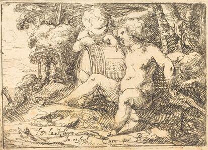 Laurent de La Hyre, 'Three Bacchic Children', 1620s