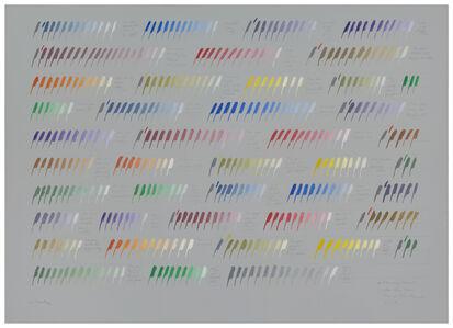 Osvaldo Romberg, 'From gray towards white three times through the chromatic circle', 1977