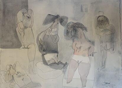Jose Luis Cuevas, 'Autoretrato en un Fumadoro Chino', 1978