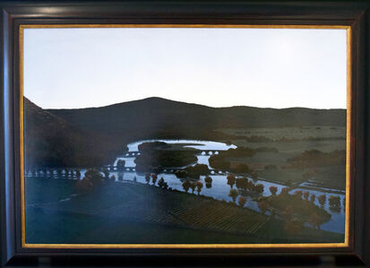 Stephen Hannock, 'The Oxbow, After Church, After Cole, Flooded (Flooded River with Green Light for the Matriarchs E. & A. Mongan), 1999', 1999
