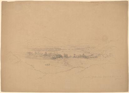 Alexander Helwig Wyant, 'Miami and Ohio Rivers', 1865