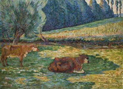 Jean Baptiste Armand Guillaumin, 'Breton Landscape (Vaches en Repos)', 1886-1900