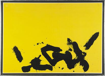Adolph Gottlieb, 'Lemon Yellow Ground', 1966