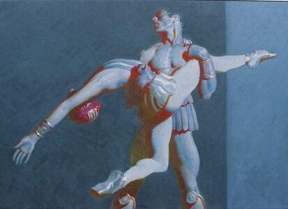 John Asaro, 'Crassus - Aegina - Red Shadows in Grey', 2020