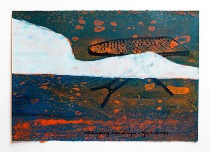 "Iain Baxter&, 'Iain Baxter& ""Merging Landscape"" Conceptual Monoprint Painting', 20th Century"