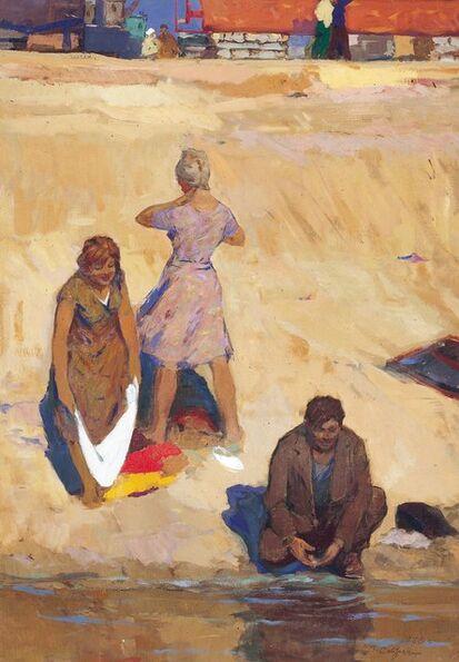Vasily Vasilevich Strigin, 'The end of a work day', 1970