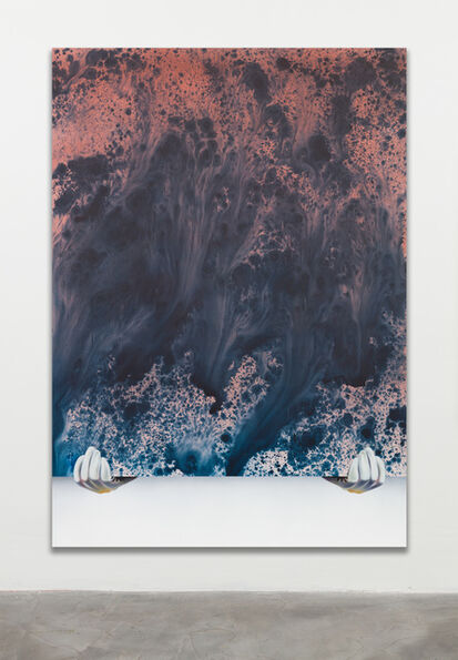Sayre Gomez, 'Thief Painting in Vermillion Red Over Phthalo Blue', 2016
