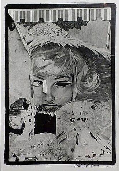 Dennis Hopper, 'Torn Poster (Girl) LIFETIME SILVER GELATIN PRINT-SIGNED', 1964