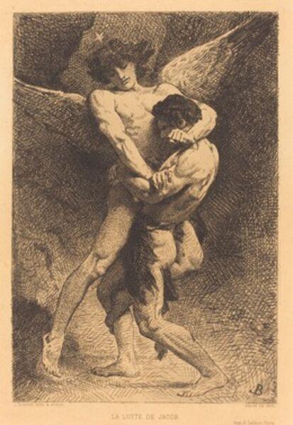 Léon Bonnat, 'La Lutte de Jacob (Jacob Wrestling with the Angel)', 1876