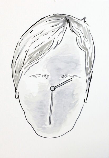 Markus Vater, 'Person as a clock', 2016