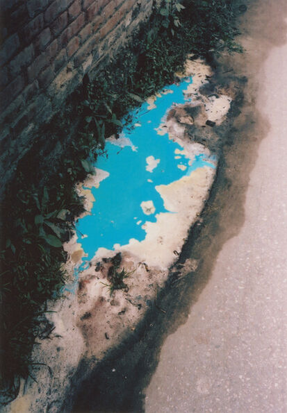 Vincent Delbrouck, 'Blue puddle, Kathmandu (Nepal), from the series As Dust Alights', 2009