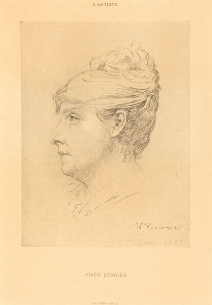 Léon Bonnat, 'Fidès Devriès', 1887