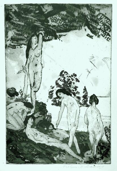 Arthur Bowen Davies, 'By the Sea (aka Idyll)', 1919