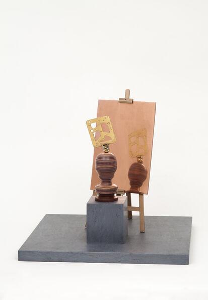 Sebastián Gordín, 'Artista desconocido. Autorretrato sobre chapa de cobre pulida', 2017