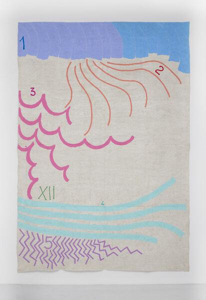 Giorgio Griffa, 'Numerazione doppia', 1996