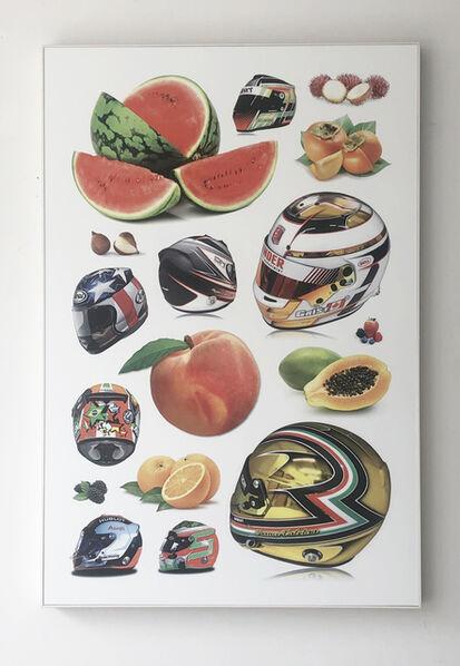 Jeff Gibson, 'Untitled (Fruit, Helmets)', 2017